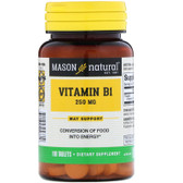 Buy Vitamin B-1 250 mg 100 Tabs Mason Vitamins Online, UK Delivery, Vitamin B1 Thiamin