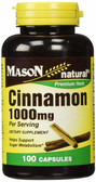 Buy Cinnamon 1000 mg 100 Caps Mason Online, UK Delivery