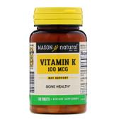 Buy Vitamin K 100 mcg 100Tabs Mason Vitamins Online, UK Delivery, Vitamin K