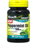 Buy Peppermint Oil 50 mg 90 sGels Mason Vitamins Online, UK Delivery, Herbal Remedy Natural Treatment
