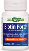 Enzymatic Biotin Forte with Zinc 60 Tabs, Skin, Nails, UK store
