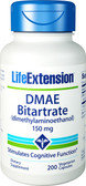 Life Extension DMAE Bitartrate (dimethylaminoethanol) 150 mg 200 Vcaps