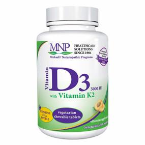 Buy Vitamin D3 with Vitamin K2 Natural Apricot Flavor 5000 IU 90 Sublingual Tabs Michael's
