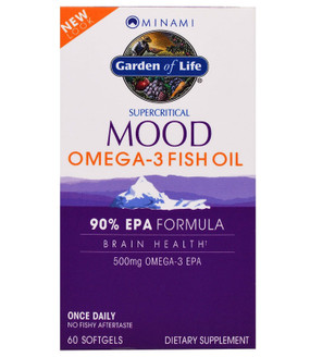PlusEPA Supercritical Omega-3 Fish Oil 500 mg 60 sGels Minami Nutrition