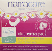 Buy Organic & Natural Ultra Extra Pads Normal 12 Pads Natracare Online, UK Delivery, Women's Feminine Hygiene Personal Care