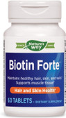 Biotin Forte 5mg without Zinc, 60 Tabs, Nature's Way