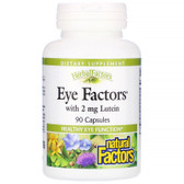 Buy Eye Factors with 2 mg Lutein 90 Caps Natural Factors Online, UK Delivery, Eye Support Supplements Vision Care