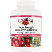 Buy CranRich Super Strength Cranberry Concentrate 500 mg 180 Caps Natural Factors Online, UK Delivery, Herbal Remedy Natural Treatment
