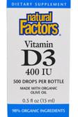 Buy Vitamin D3 Drops for Kids 400 IU 0.5 oz (15 ml) Natural Factors Online, UK Delivery, Liquid Vitamin D3