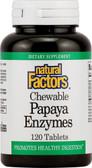 Buy Chewable Papaya Enzymes 120 Tabs Natural Factors Online, UK Delivery, Enzymes Papaya Papain