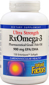 Buy Ultra Strength RxOmega-3 150 Enteripure sGels Natural Factors Online, UK Delivery, EFA Omega EPA DHA