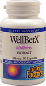 Buy WellBetX Mulberry Extract 100 mg 90 Caps Natural Factors Online, UK Delivery,
