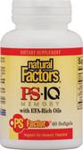 Buy PS- IQ Memory with EFA-Rich Oils 60 sGels Natural Factors Online, UK Delivery,