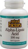 Buy Alpha-Lipoic Acid 200mg 120 Caps Natural Factors Online, UK Delivery, Antioxidant ALA