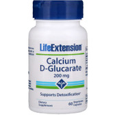 Calcium D-Glucarate 200mg 60 Caps, Life Extension, UK Shop