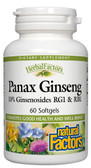 Buy HerbalFactors Panax Ginseng 60 sGels Natural Factors Online, UK Delivery, Ginseng Immune Support Treatment