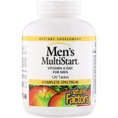 Buy Men's MultiStart VitaMin A Day for Men 120 Tabs Natural Factors Online, UK Delivery, Multivitamins For Men