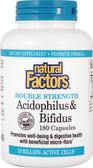 Buy Acidophilus & Bifidus 10 Billion Active Cells 180 Caps (Ice) Natural Factors Online, UK Delivery, Probiotics Acidophilus