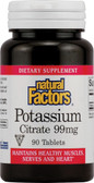 Buy Potassium Citrate 99 mg 90 Tabs Natural Factors Online, UK Delivery, Mineral Supplements