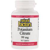 Buy Potassium Citrate 99 mg 90 Tabs Natural Factors Online, UK Delivery, Mineral Supplements