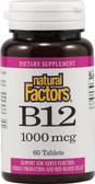 Buy B12 1000 mcg 60 Tabs Natural Factors Online, UK Delivery, Vitamin B