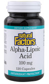 Buy Alpha-Lipoic Acid 100mg 120 Caps Natural Factors Online, UK Delivery, Antioxidant ALA