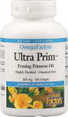 Buy OmegaFactors Ultra Prim Evening Primrose Oil 500 mg 180 sGels Natural Factors Online, UK Delivery, EFA Omega EPA DHA