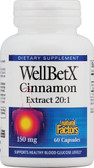Buy WellBetX CinnamonRich 150 mg 60 Caps Natural Factors Online, UK Delivery