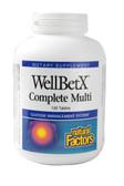 Buy WellBetX Complete Multi 120 Tabs Natural Factors Online, UK Delivery, Cardiovascular Blood Sugar Formulas Multivitamins