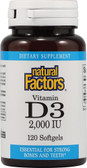 Buy Vitamin D3 2 000 IU 120 sGels Natural Factors Online, UK Delivery, Vitamin D3