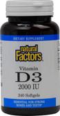 Buy Vitamin D3 2000 IU 240 sGels Natural Factors Online, UK Delivery, Vitamin D3