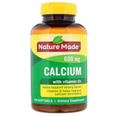 Buy Calcium with Vitamin D 400 IU 600 mg 100 Liquid sGels Nature Made Online, UK Delivery, Mineral Supplements