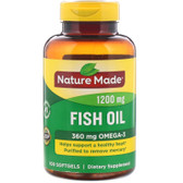 Buy Fish Oil 1200 mg 100 Liquid sGels Nature Made Online, UK Delivery