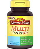 Buy Multi for Her 50+ 60 sGels Nature Made Online, UK Delivery, Gluten Free Multivitamins For Women