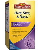 Buy Hair Skin & Nails 60 sGels Nature Made Online, UK Delivery, Vitamins For Women Hair Nails Skin Women's Supplements