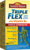Buy Triple Flex Triple Strength with Vitamin D3 120 Caplets Nature Made Online, UK Delivery, Joints Bones Osteo Support Formulas Pain Relief Remedy