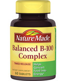 Buy Balanced B-100 Complex 60Tabs Nature Made Online, UK Delivery, Vitamin B Complex