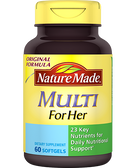 Buy Multi For Her 60 sGels Nature Made Online, UK Delivery, Gluten Free Multivitamins For Women