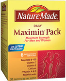 Buy Daily Maximin Pack Multivitamin and Mineral 6 Supplements Per Packet 30 Packets Nature Made Online, UK Delivery, Multivitamins