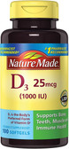 Buy Vitamin D3 1000 IU 90 + 10 Liquid sGels Nature Made Online, UK Delivery, Vitamin D3
