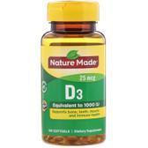 Vitamin D3 1000IU, 100 Softgels, Nature Made