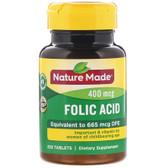 Buy Folic Acid 400 mcg 250 Tabs Nature Made Online, UK Delivery, Folic Acid Prenatal Vitamin Pregnancy