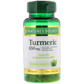 Buy Turmeric 450 mg 60 Caps Nature's Bounty Online, UK Delivery, Antioxidant Curcumin