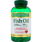 Buy Fish Oil 1200 mg 200 sGels Nature's Bounty Online, UK Delivery, EFA Omega EPA DHA