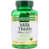 Buy Milk Thistle 250 mg 200 Caps Nature's Bounty Online, UK Delivery, Milk Thistle Silymarin Liver Cleanse Detox Cleansing