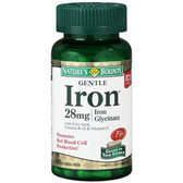 Buy Gentle Iron 28 mg 90Caps Nature's Bounty Online, UK Delivery, Mineral Supplements