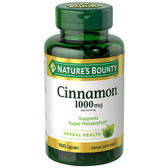 Buy Cinnamon 1000 mg 100Caps Nature's Bounty Online, UK Delivery, Herbal Remedy Natural Treatment
