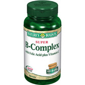 Buy Super B-Complex with Folic Acid Plus Vitamin C 150 Tabs Nature's Bounty Online, UK Delivery, Vitamin B Complex