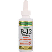 Buy B-12 Sublingual Liquid Super Strength Natural Berry Flavor 5000 mcg 2 oz (59 ml) Nature's Bounty Online, UK Delivery, Liquid Vitamin B12
