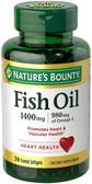 Buy Fish Oil 1400 mg 39 Coated sGels Nature's Bounty Online, UK Delivery, EFA Omega EPA DHA